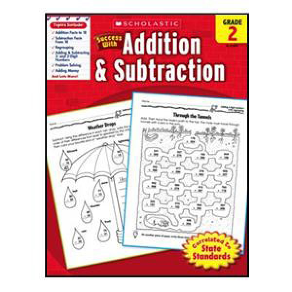 Scholastic Success With Addsubtract Book Grade 2 1st 2nd 3rd