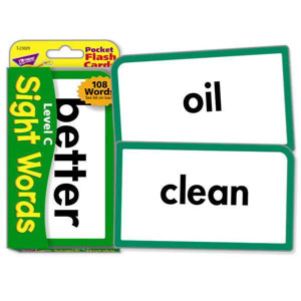 Level C Sight Words Flash Cards