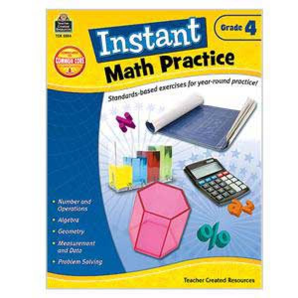 Instant Math Practice Book-Grade 4