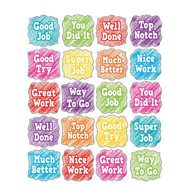 Scribble Motivational Stickers