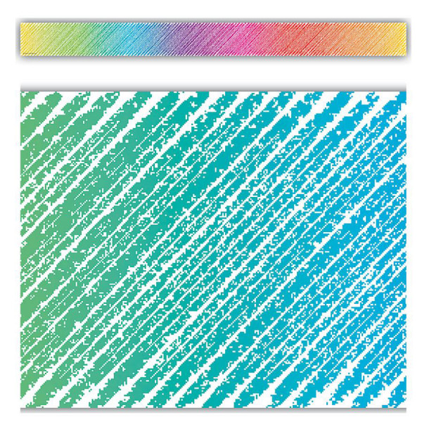 Colorful Scribble Straight Border