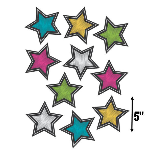 Chalkboard Brights Star Cut-Outs