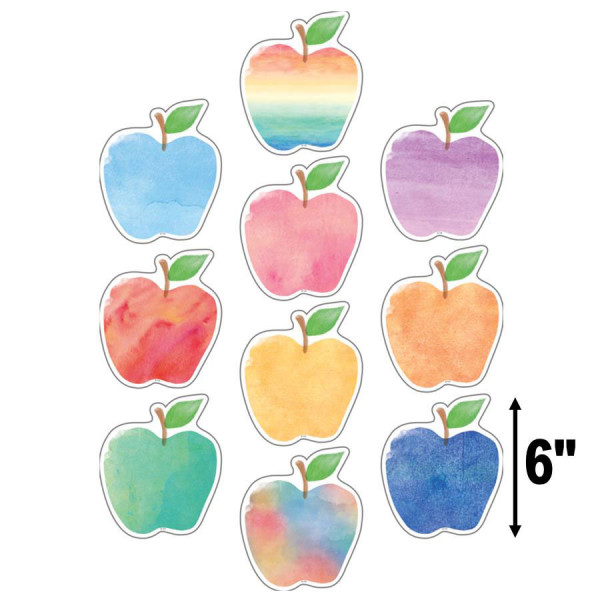 Watercolor Apples Cut-Outs