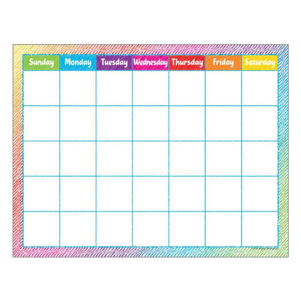 Colorful Scribble Calendar Poster