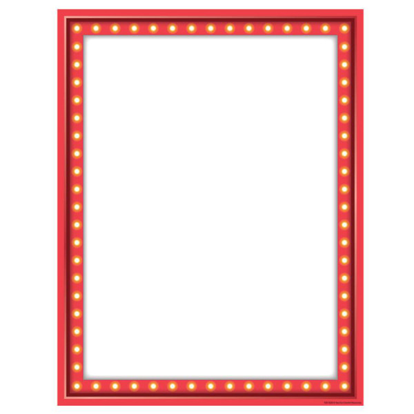 marquee red blank poster