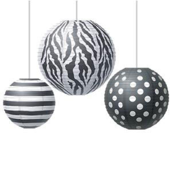 Big, Bold, Black & White Lanterns