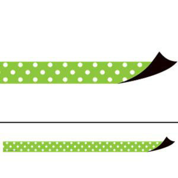 Lime Polka Dots Magnetic Border Strips