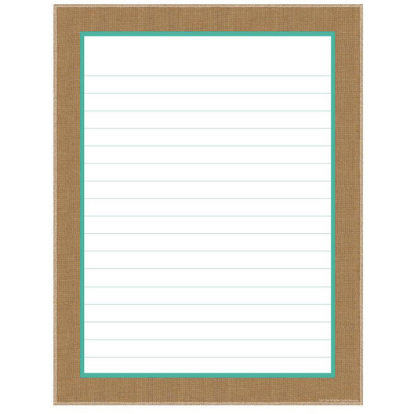 Shabby Chic Blank Lined Poster
