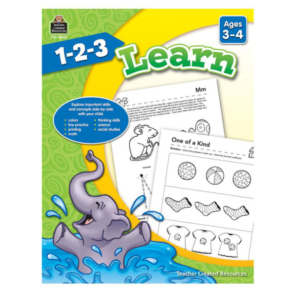 1-2-3 Learn Book - Ages 3-4