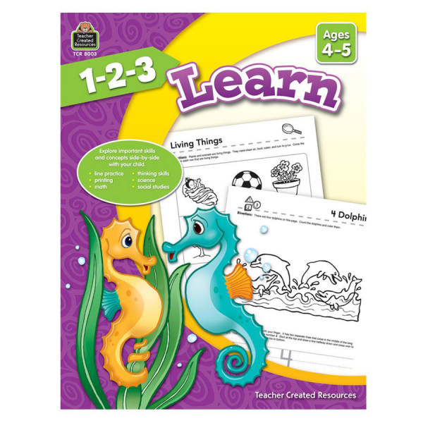 1-2-3 Learn Book - Ages 4-5