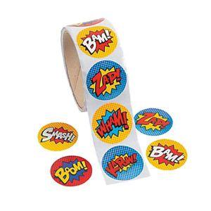 Superhero Stickers-Roll of 100