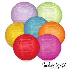 Schoolgirl Style Colorful Lanterns 7 pack