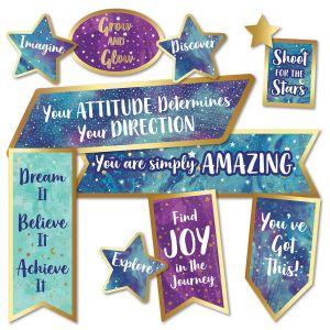 Galaxy Motiviational Signs Mini Bulletin Board