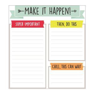 Aim High Make It Happen Notepad