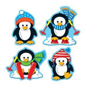 Penguins Shape Stickers