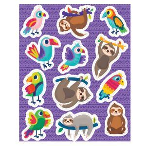 Sloths & Parrots Stickers