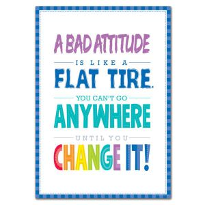 A Bad Attitude Painted Palette Inspire U Poster