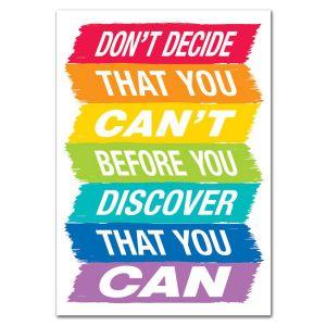 Don't Decide Painted Palette Inspire U Poster