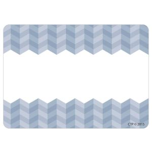 Painted Palette Slate Gray Ombre Scallop Nametags
