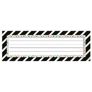 Bold & Bright Stripes & Dots Nameplates