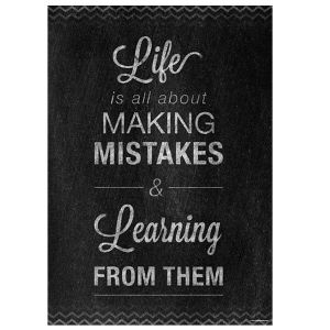 Life Is All About Making Mistakes Inspire U Poster