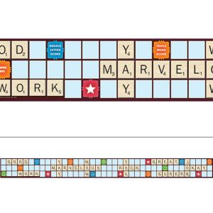 Scrabble Letters Extra Wide Border