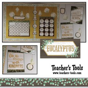 *Eucalyptus Calendar & Birthday Bulletin Board