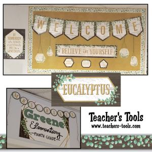 *Eucalyptus Welcome Bulletin Board