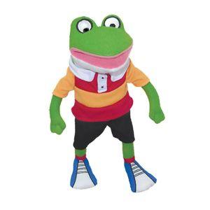 Froggy, Striped Shirt Plush