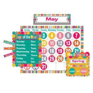 Tropical Punch Calendar Bulletin Board