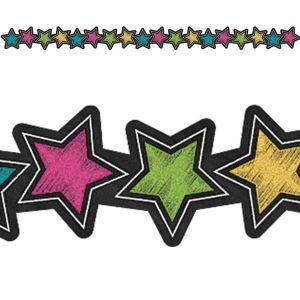Chalkboard Brights Stars Die-Cut Border