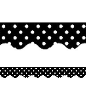 Black Mini Polka Dots Border