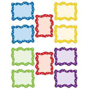 Polka Dots Blank Card Cut-Outs
