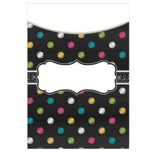 Chalkboard Brights Library Pockets