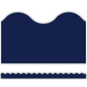 Navy Scalloped Border