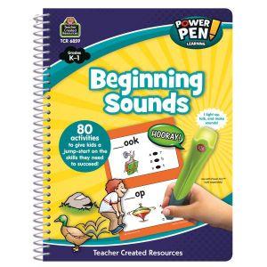 Beginning Sounds Power Pen Learning Book K-1