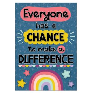 Oh Happy Day Make a Difference Positive Poster