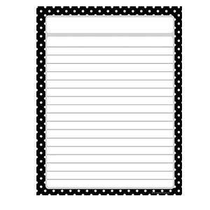 Black Polka Dots Blank Poster