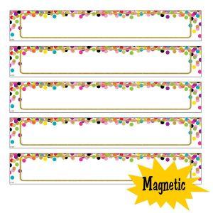 Large Confetti Magnetic Labels