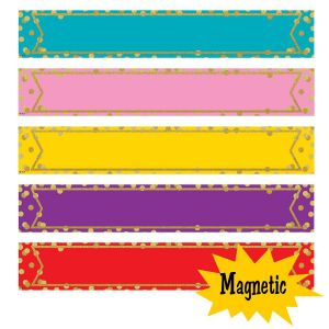 Large Colorful Confetti Magnetic Labels