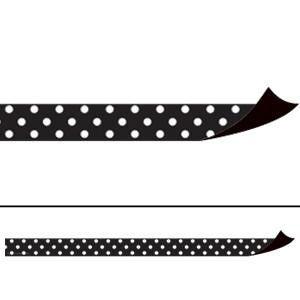 Black Polka Dots Magnetic Border Strips