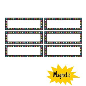 Chalkboard Brights Labels Magnetic Accents