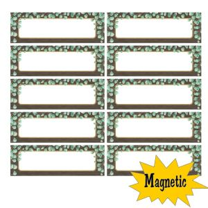 Eucalyptus Magnetic Labels-Set of 30