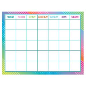 Colorful Vibes Calendar Poster