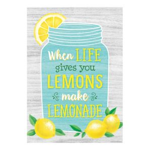 Make Lemonade Lemon Zest Positive Poster