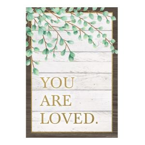 You Are Loved Eucalyptus Positive Poster