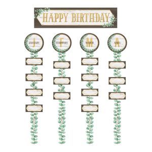 Eucalyptus Happy Birthday Bulletin Board