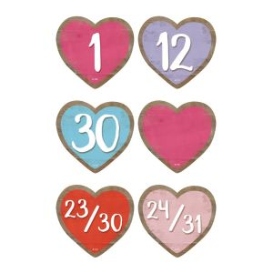 Home Sweet Classroom Hearts Calendar Days