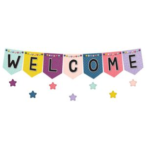 Oh Happy Day Welcome Pennants Bulletin Board Set