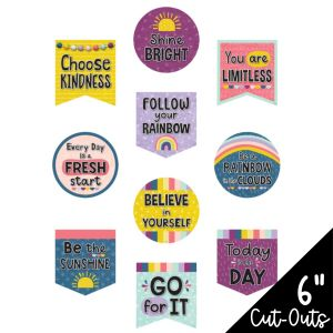 Oh Happy Day Positive Sayings Cut-Outs